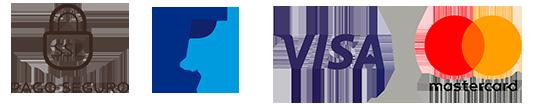 Logotipos Paypal, Visa, Mastercard, Pago seguro